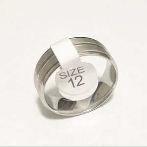 Other - Men's Silver Tone Ring, Size 12 Men's